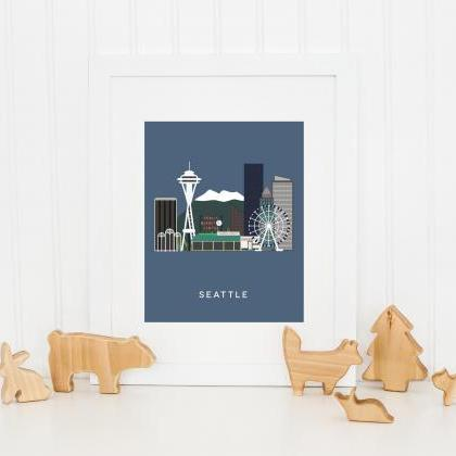 Seattle City Print in our West Coas..